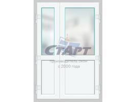 Пластиковая дверь штульповая Gealan