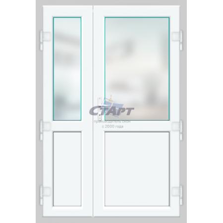 Пластиковая дверь штульповая Brusbox