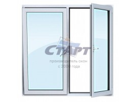 Двухстворчатое окно Gealan S 8000