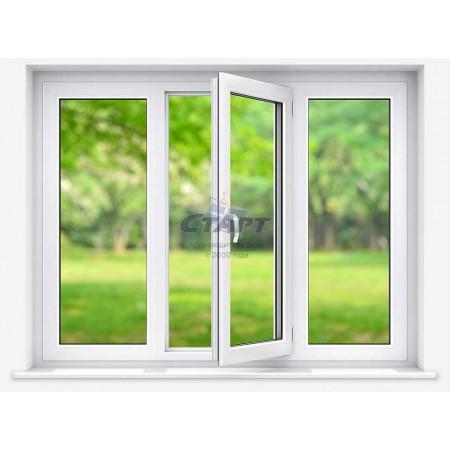 Пластиковое окно трехстворчатое Brusbox 70-6 ACLASS